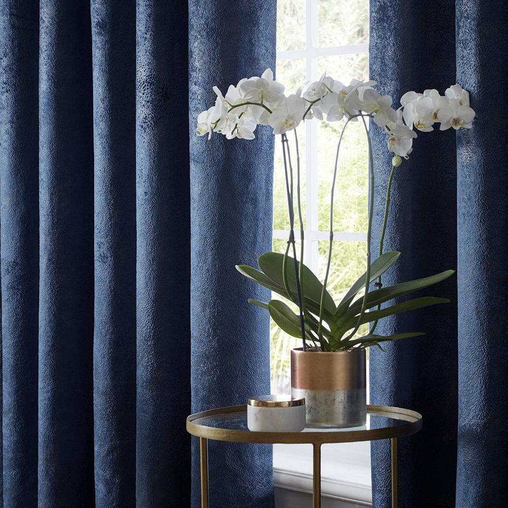 Studio G Navarra Eyelet Curtains Indigo Ready Made Curtains - Product code: DA40452400