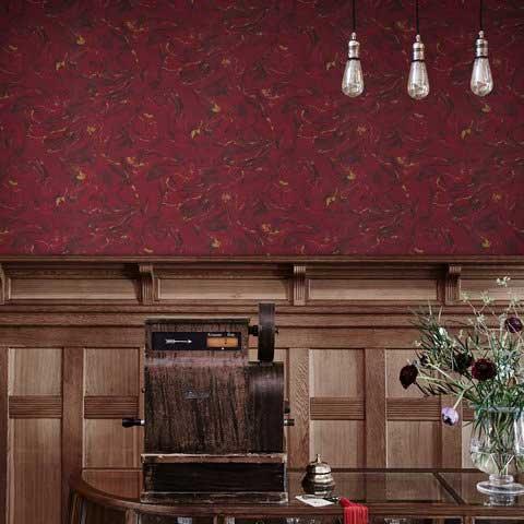 Sandberg Marion Red Wallpaper - Product code: 228-74