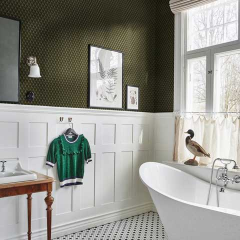Sandberg Chloe Khaki Green Wallpaper - Product code: 229-88