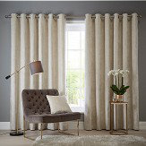 Studio G Navarra Eyelet Curtains Oyster Ready Made Curtains - Product code: DA40452490