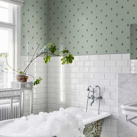 Sandberg Audrey Sage Green Wallpaper - Product code: 231-58