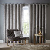 Studio G Navarra Eyelet Curtains Silver Ready Made Curtains - Product code: DA40452535