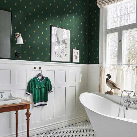Audrey Wallpaper - Green - by Sandberg