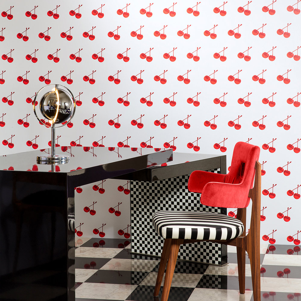 Arte Cherry Forever Blanco Wallpaper - Product code: FP1131