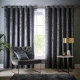 Studio G Navarra Eyelet Curtains Slate Ready Made Curtains