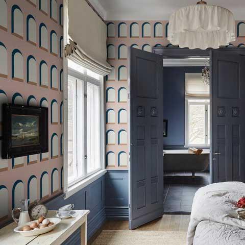 Marie Wallpaper - Pink - by Sandberg