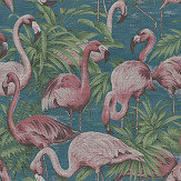 Arte Flamingo Blue / Pink Wallpaper - Product code: 31541