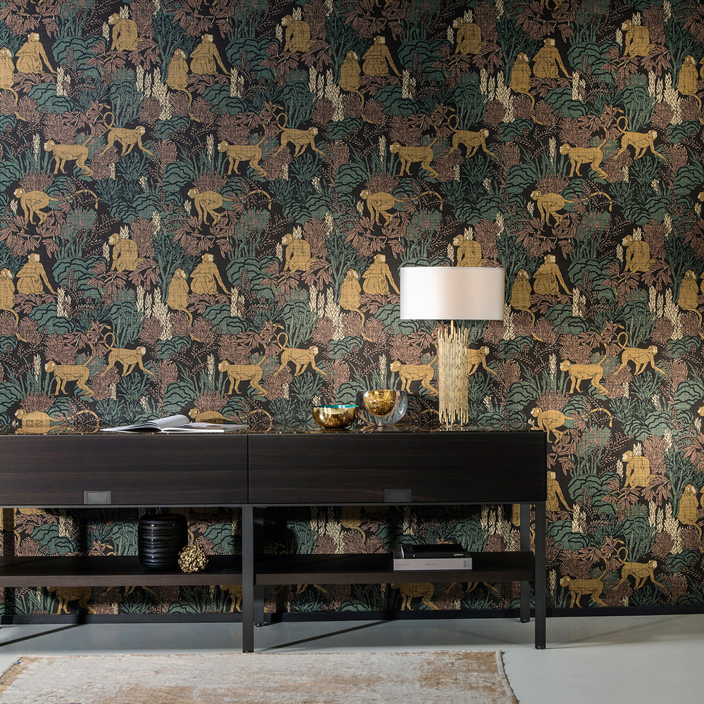 Arte Langur Copper Wallpaper - Product code: 13530