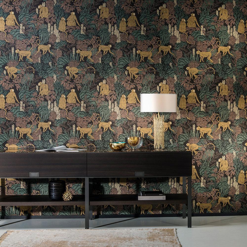 Langur Wallpaper - Copper - by Arte