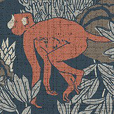 Arte Langur Red copper Wallpaper - Product code: 13532