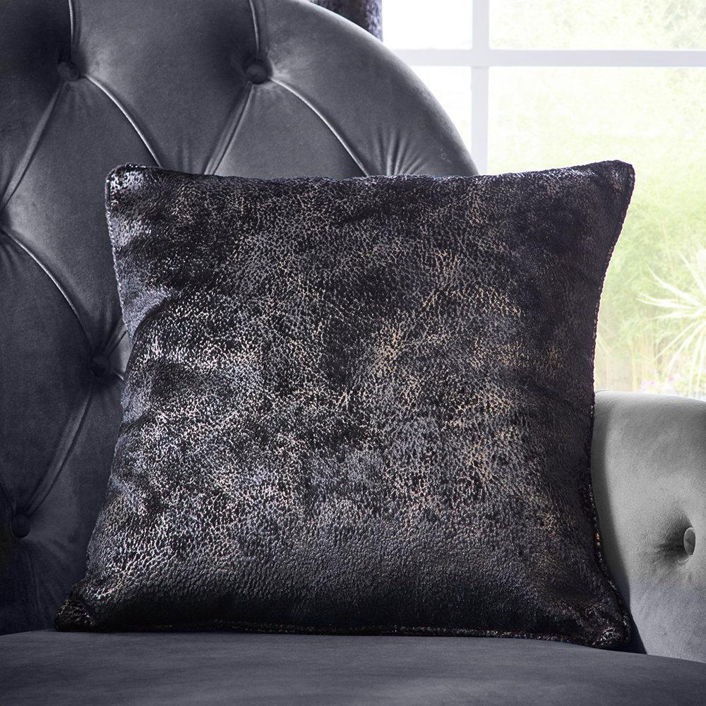 Navarra Cushion - Ebony - by Studio G