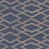 Jane Churchill Geometric Silk Midnight Wallpaper - Product code: J8001-01