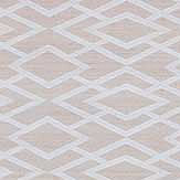 Jane Churchill Geometric Silk Silver Wallpaper