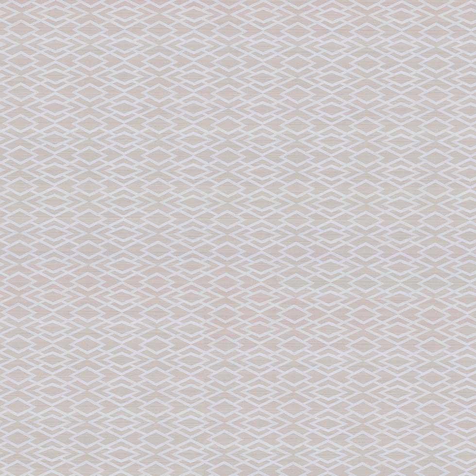 Geometric Silk Wallpaper - Silver - by Jane Churchill