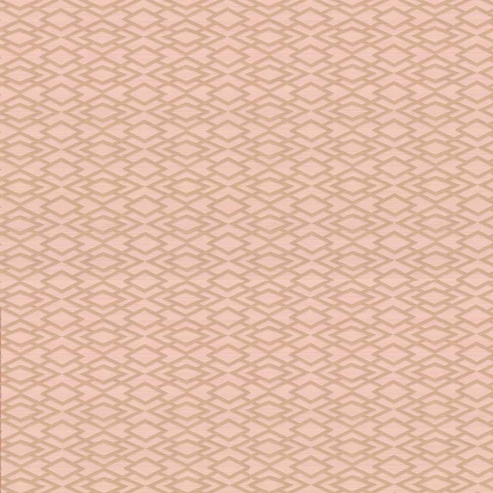 Geometric Silk Wallpaper - Soft Pink - by Jane Churchill