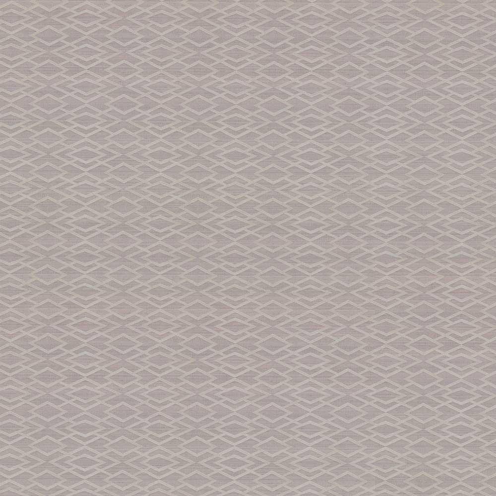 Geometric Silk Wallpaper - Pewter - by Jane Churchill