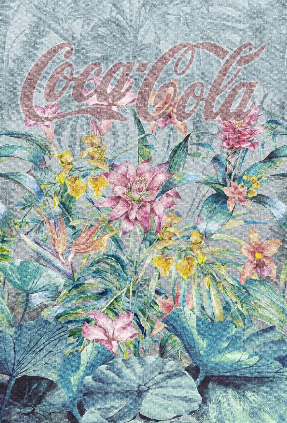 Coca Cola Tropical Faded Multi Mural - Product code: 41283