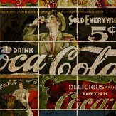 Coca Cola Distressed Vintage Multi Mural