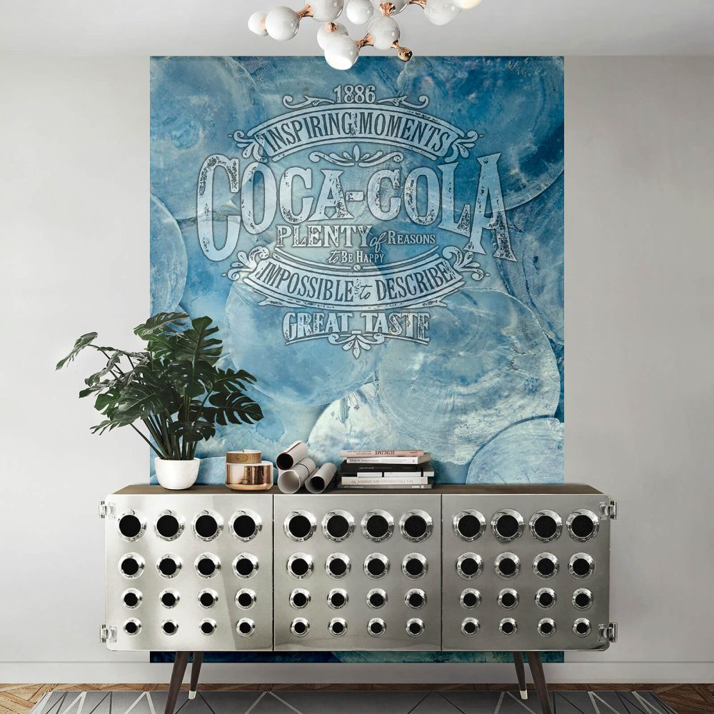 Liberty Western Mural - Blue - by Coca Cola