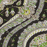 Nina Campbell Les Indiennes Black and Green Fabric - Product code: NCF4330-04