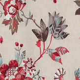 Nina Campbell Nemours Red Fabric - Product code: NCF4332-02