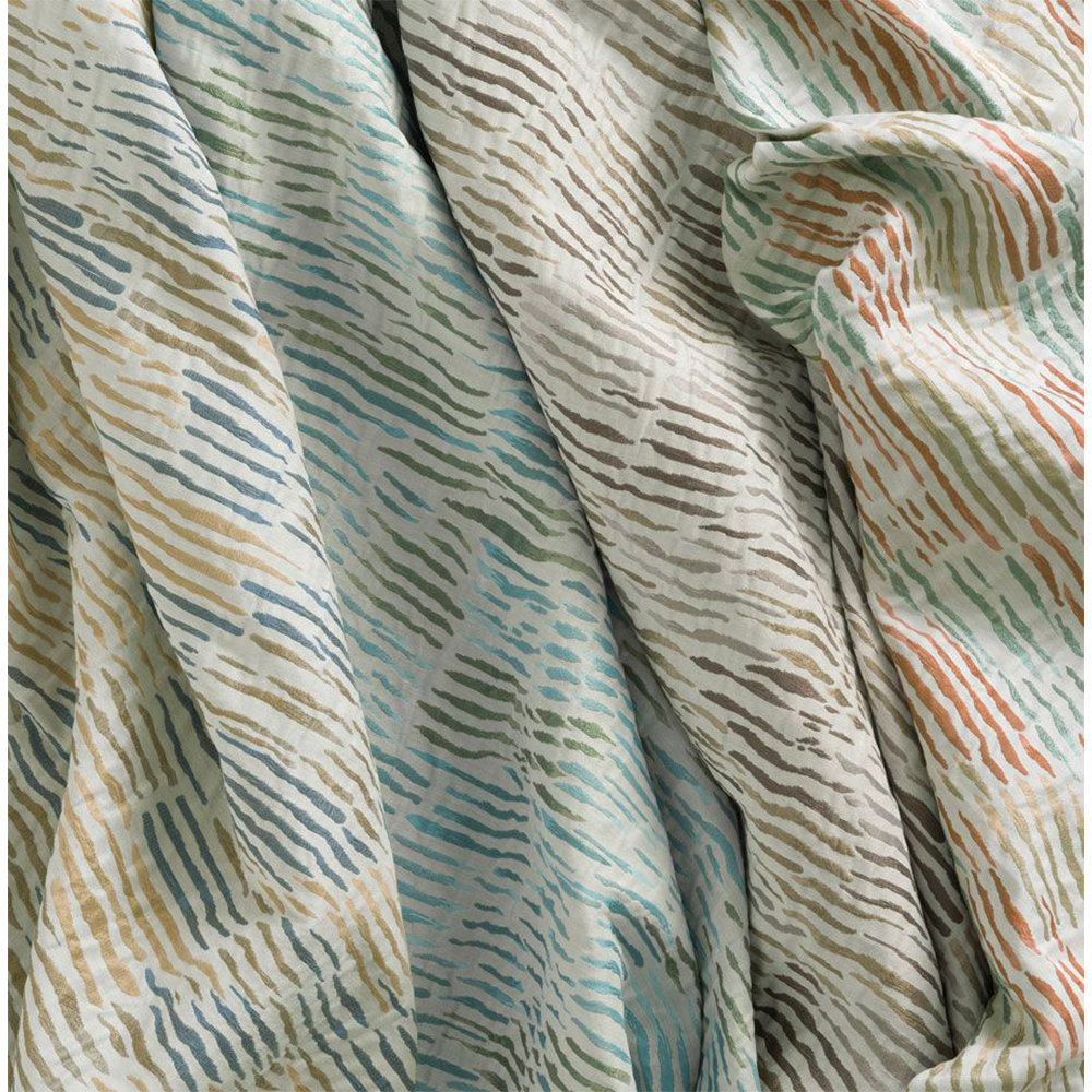Nina Campbell Arles Blue and Ochre Fabric - Product code: NCF4333-04