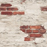 Galerie Distressed Brick Red Brick Wallpaper