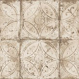 Galerie Tin Tile Cream Wallpaper - Product code: G45375