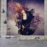 Galerie Guitar Girl Purple Mural - Product code: G45282