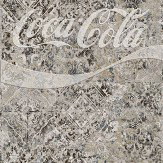 Coca Cola Maiolica Pale Grey Mural - Product code: 41287