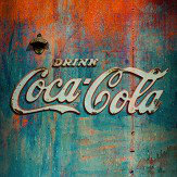 Coca Cola Distributer Teal and Orange Mural - Product code: 41280
