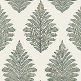 Anna French Palampore Leaf Robin's Egg Wallpaper - Product code: AT78723