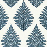 Anna French Palampore Leaf Blue / White Wallpaper - Product code: AT78725