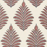 Anna French Palampore Leaf Red / Blue Wallpaper - Product code: AT78726
