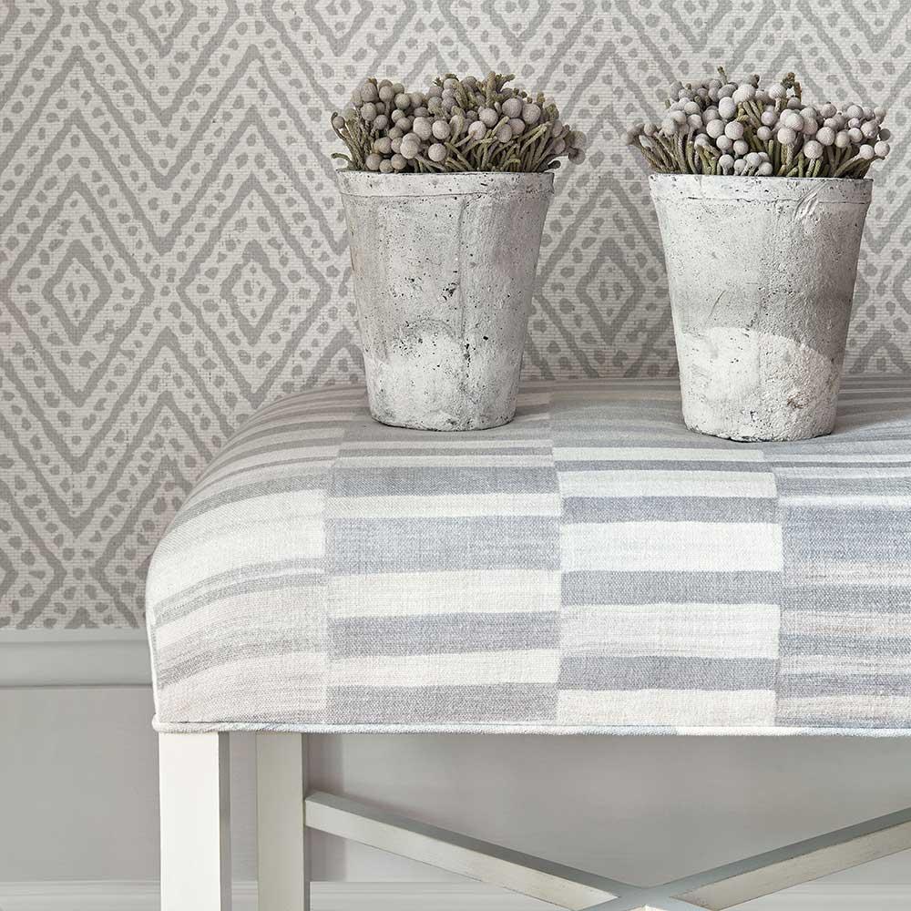 Vero Wallpaper - Grey - by Anna French