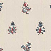 Anna French Jouy Red / Blue Wallpaper - Product code: AT78751