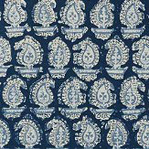 Anna French Gada Paisley Navy Wallpaper