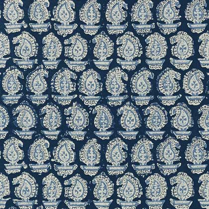 Gada Paisley Wallpaper - Navy - by Anna French