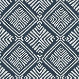 Anna French Donavin Diamond Navy Wallpaper - Product code: AT78775