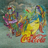 Coca Cola Coke Bottles Aged Green Mural - Product code: 41273