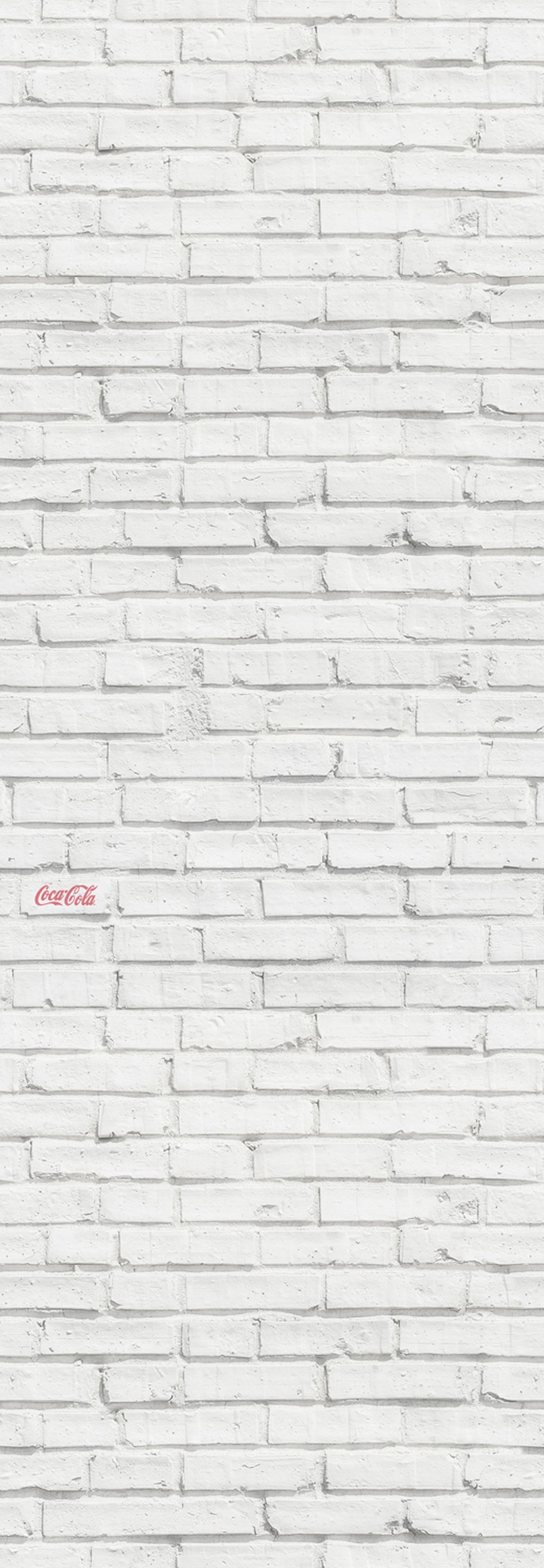 Coca Cola Brick White Mural - Product code: 41272