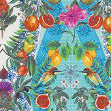 Matthew Williamson Talvera Turqouise/ Citrus Brights Fabric - Product code: F7242-01