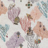 Matthew Williamson Coralino Coral/ Amethyst/ Gold Fabric - Product code: F7244-01