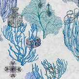 Matthew Williamson Coralino Sea Blue Fabric - Product code: F7244-03