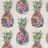 Matthew Williamson Ananas Green / Pink Fabric - Product code: F7245-01