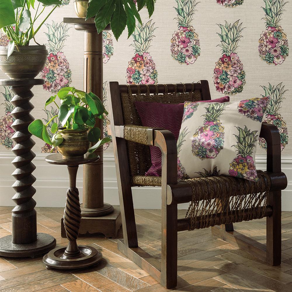 Matthew Williamson Ananas Green / Pink Fabric extra image