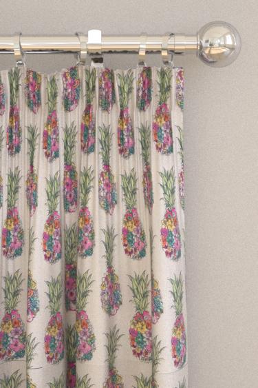 Matthew Williamson Ananas Green / Pink Curtains