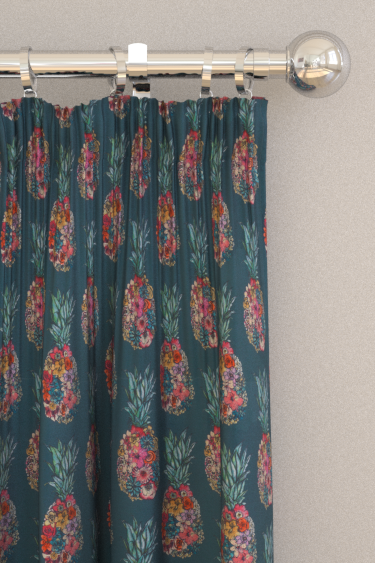 Matthew Williamson Ananas Dark Teal/ Scarlet/ Jade Curtains - Product code: F7245-03