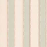 Colefax and Fowler Chartworth Stripe Aqua and Pink Wallpaper - Product code: 07139/07