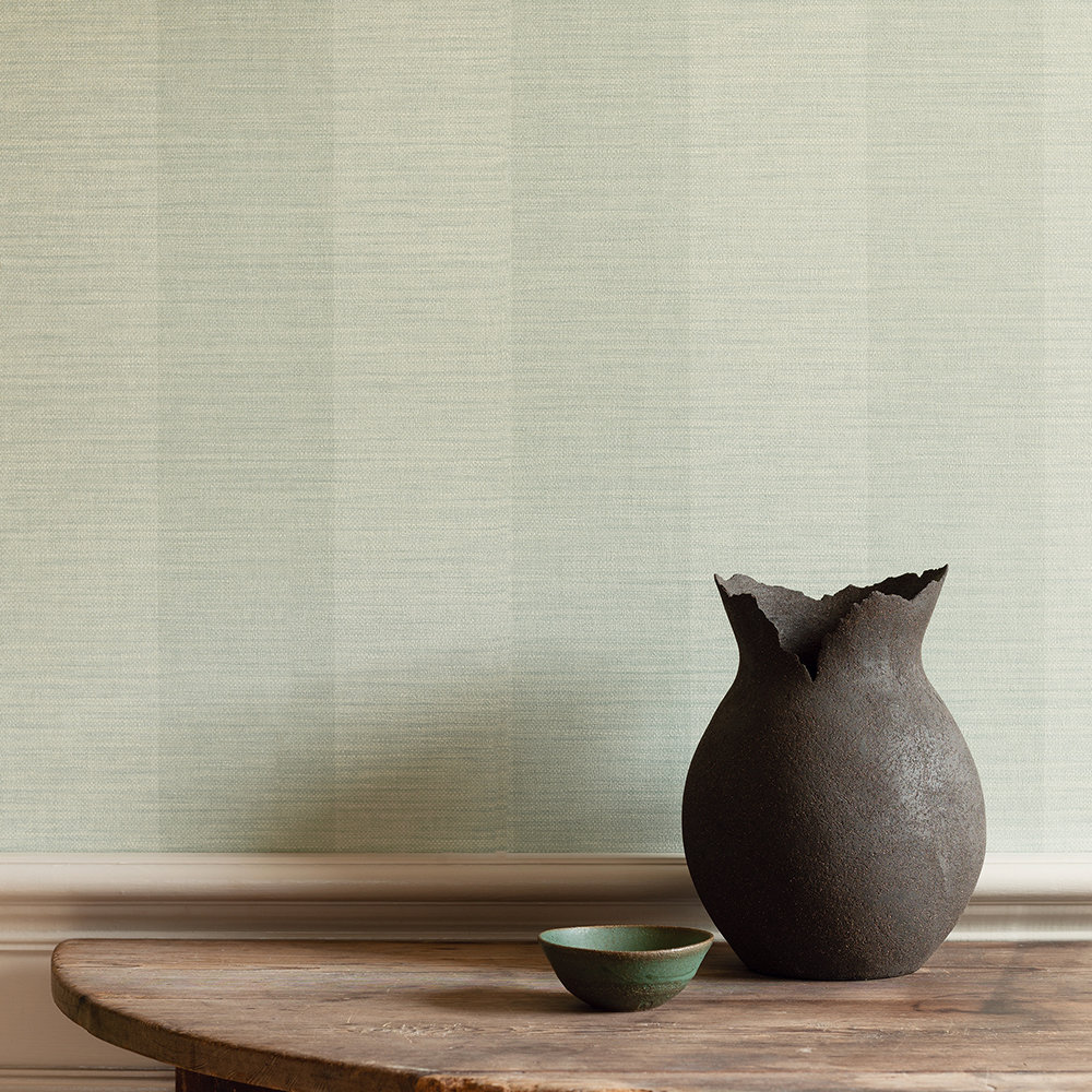 Appledore Stripe Wallpaper - Old Blue - by Colefax and Fowler
